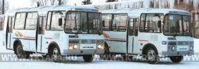 На снимке: два новых автобуса, приобретенных АТП, 12 февраля прибыли в Тару.