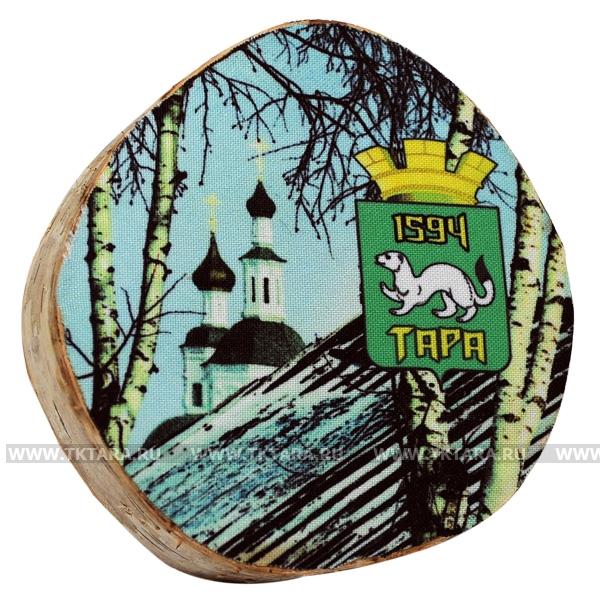 Изображение на срезе дерева (печать на ткани)