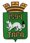 Значок с гербом Тары и датой основания города